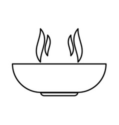 hot dish black color icon vector image