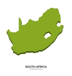 Isometric map of South Africa detailed vector image