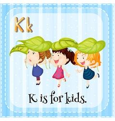 Letter K vector image
