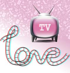 Love television symbols vector