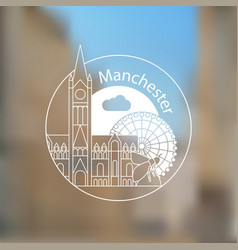 Manchester england detailed silhouette vector