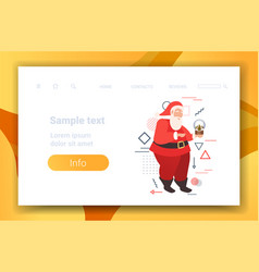 merry christmas happy new year holiday celebration vector image