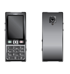 mobile phone with keypad vector image
