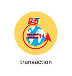 money transaction around world icon vector image