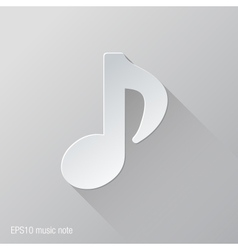 Music Note Flat Icon Design vector image