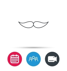 Mustache icon Hipster symbol Gentleman sign vector