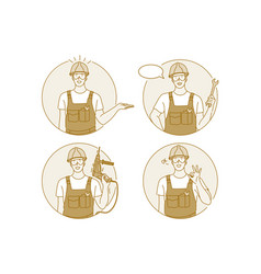 occupation job manual worker concept vector image