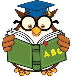 Owl teacher cartoon vector