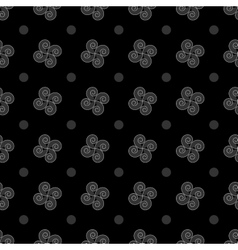 Polka dot and flower geometric seamless pattern 2 vector image