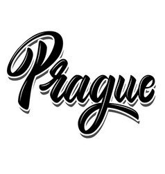 prague capital czech lettering phrase on vector image