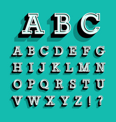 retro alphabet vector image