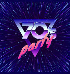 retro party 70s movement through universe in vector image