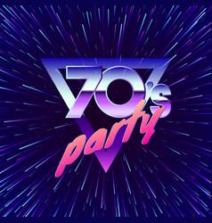 Retro party 70s movement through universe vector