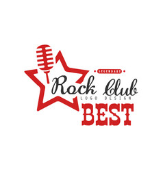 Rock club logo design element can be used for vector