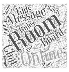 Rules to Set for Online Message Boards and Chat vector