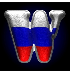 Russian metal figure w vector