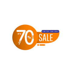 Sale special offer up to 70 limited time only vector