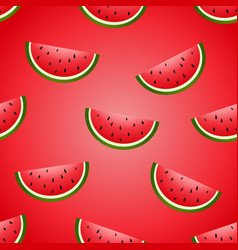 Seamless fun watermelon hand drawing vector