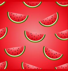 seamless fun watermelon hand drawing vector image