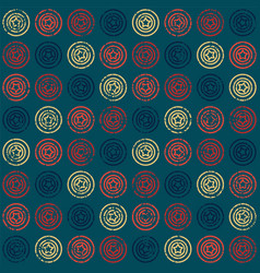 Seamless pattern with stars in circles vector