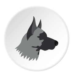Shepherd dog icon flat style vector