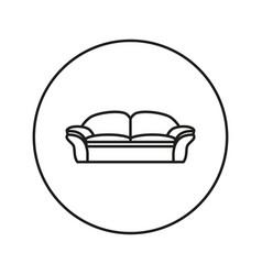 Soft sofa icon vector