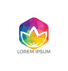 spa logo lotus wellness salon logo vector image