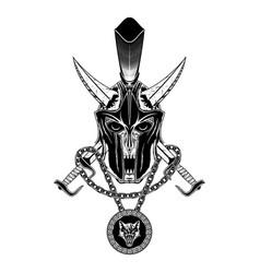sparta sword skull vector image