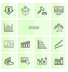 Stock icons vector