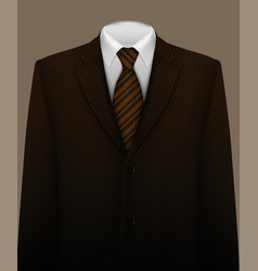 Suit background with tie vector