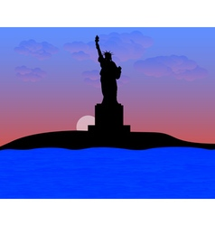The Statue of Liberty vector image vector image