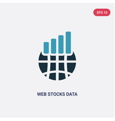 two color web stocks data line graphic interface vector image