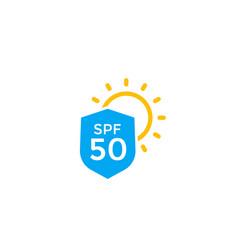 Uv protection spf 50 icon vector