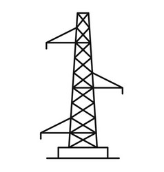 Voltage pole icon outline style vector