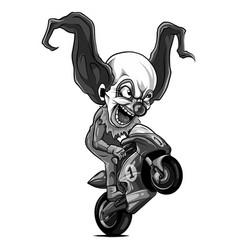 wheelies biker motorcycle vector image