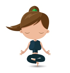 Women Yoga Health Exercise Cartoon vector