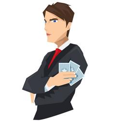 young tuxedo gambler guy vector image