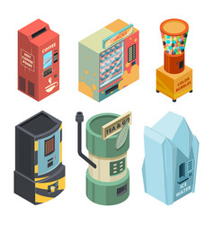 food machine for drinks coffee and snack in vector image