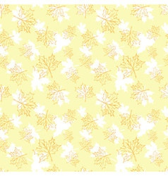 Seamless pattern with autumn leaves Halloween vector image