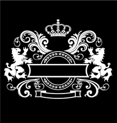 Vintage royal Emblem vector image vector image