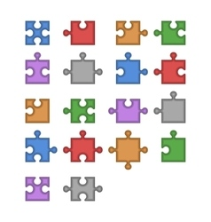 Color Jigsaw Puzzle Blank Constructor Total Parts vector image