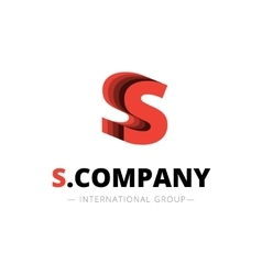 isometric layered S letter logo Company vector image