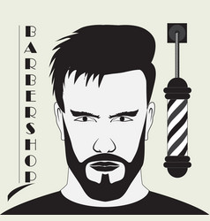 signboard for the hairdresser vector image vector image