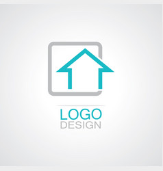 square home logo vector image