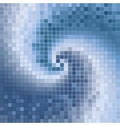 blue abstract spirals mosaic vector image vector image
