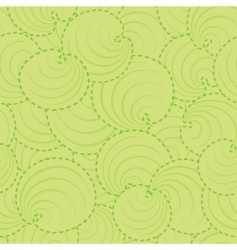 circle leaf pattern vector image vector image