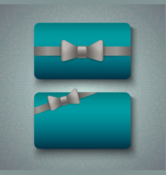 Luxury business cards templates vector