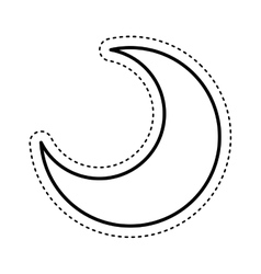 moon silhouette isolated icon vector image