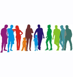 people of group vector image vector image