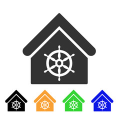 steering wheel house icon vector image